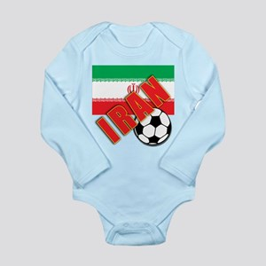 IRAN World Soccer Long Sleeve Infant Bodysuit
