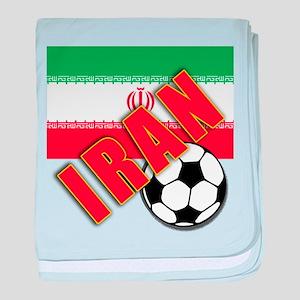 IRAN World Soccer baby blanket