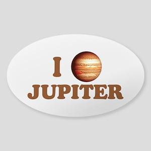 I Love Jupiter Sticker (Oval)