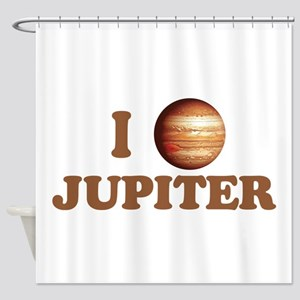 I Love Jupiter Shower Curtain