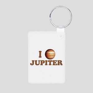 I Love Jupiter Aluminum Photo Keychain