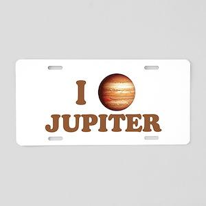 I Love Jupiter Aluminum License Plate