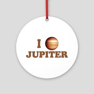 I Love Jupiter Ornament (Round)