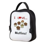 I Love Muffins Neoprene Lunch Bag