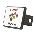 I Love Muffins Rectangular Hitch Cover