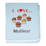 I Love Muffins baby blanket