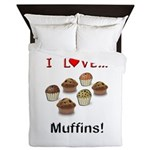 I Love Muffins Queen Duvet