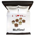 I Love Muffins King Duvet