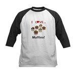 I Love Muffins Kids Baseball Jersey