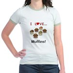 I Love Muffins Jr. Ringer T-Shirt