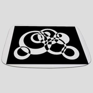 Black And White Circles Bathmat
