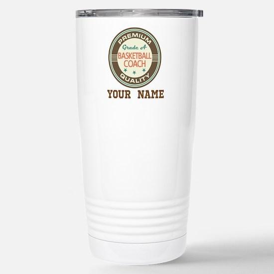 Basketball Coach Personalized Gift Travel Mug