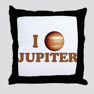 I Love Jupiter Throw Pillow