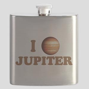I Love Jupiter Flask