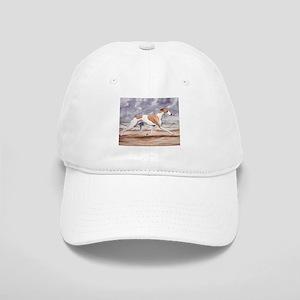 Whippet on the Beach Baseball Cap