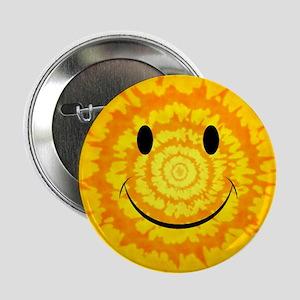 """Tie Dye Smiley Face 2.25"""" Button"""