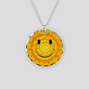 Tie Dye Smiley Face Necklace