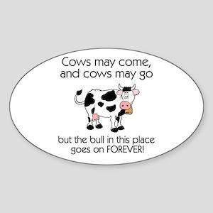 Lots of Bull Oval Sticker