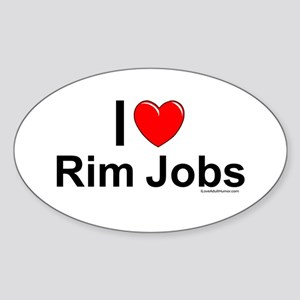 Rim Jobs Sticker (Oval)
