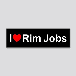 Rim Jobs Car Magnet 10 x 3