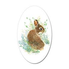 Cute Watercolor Bunny Rabbit Wall Sticker