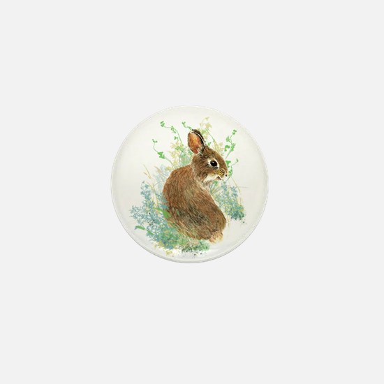 Cute Watercolor Bunny Rabbit Pet Animal Mini Butto