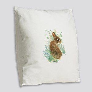 Cute Watercolor Bunny Rabbit Pet Animal Burlap Thr