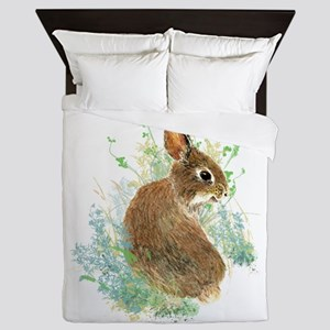 Cute Watercolor Bunny Rabbit Pet Animal Queen Duve