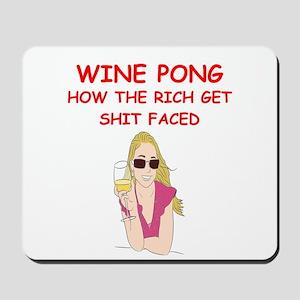 wine pong Mousepad