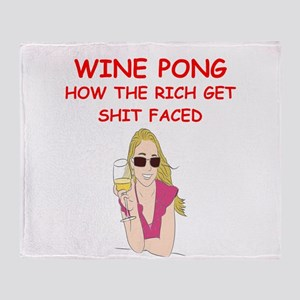 wine pong Throw Blanket