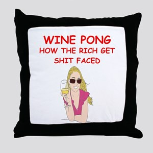 wine pong Throw Pillow
