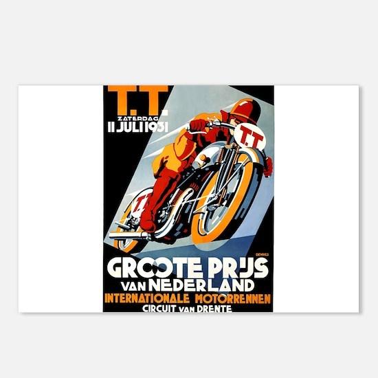1931 Netherlands Grand Prix Racing Poster Postcard