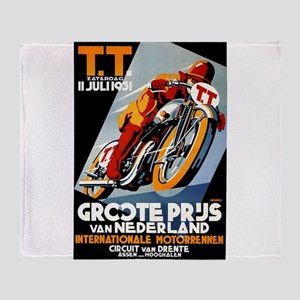 1931 Netherlands Grand Prix Racing Poster Throw Bl