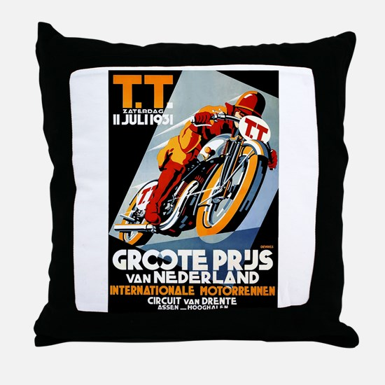 1931 Netherlands Grand Prix Racing Poster Throw Pi