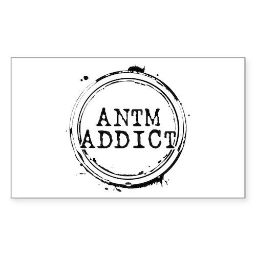 ANTM Addict Rectangle Sticker (10 pack)