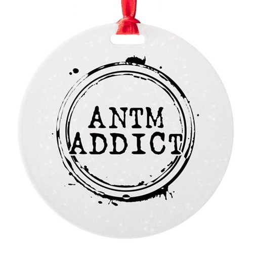 ANTM Addict Round Ornament