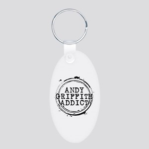 Andy Griffith Addict Aluminum Oval Keychain