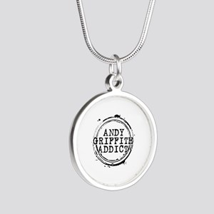 Andy Griffith Addict Silver Round Necklace
