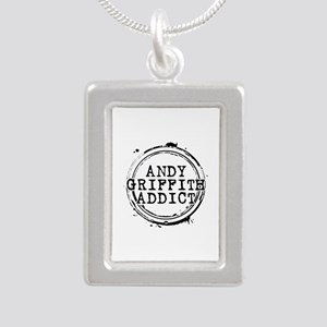 Andy Griffith Addict Silver Portrait Necklace