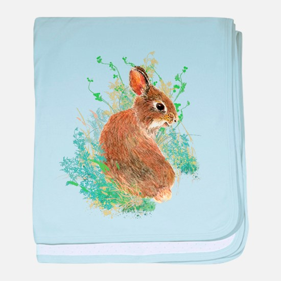 Cute Watercolor Bunny Rabbit Pet Animal baby blank