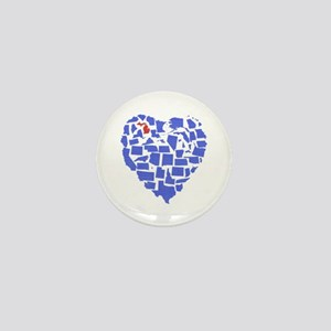 Michigan Heart Mini Button