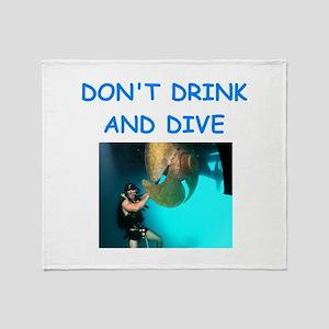 scuba diving Throw Blanket