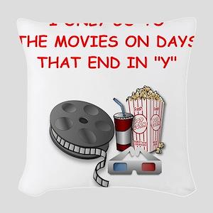 MOVIES2 Woven Throw Pillow
