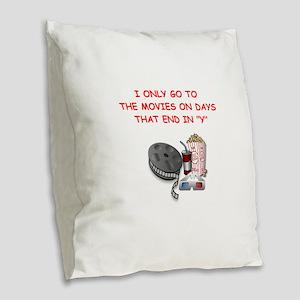 MOVIES2 Burlap Throw Pillow