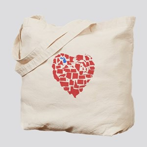 Michigan Heart Tote Bag