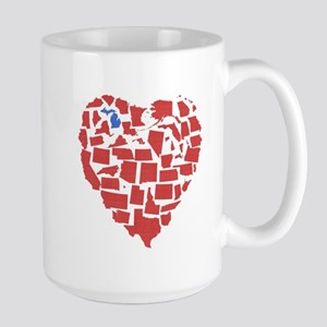 Michigan Heart Large Mug