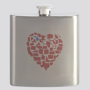 Michigan Heart Flask