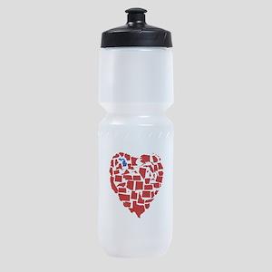 Michigan Heart Sports Bottle