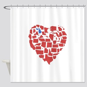 Michigan Heart Shower Curtain
