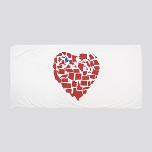 Michigan Heart Beach Towel